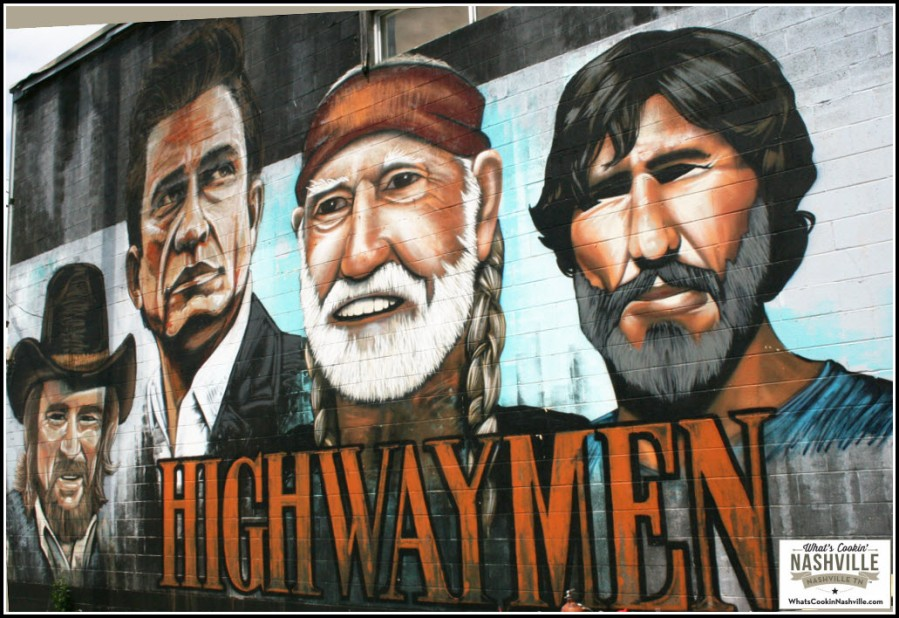 The Highway Men Mural Nashville TN