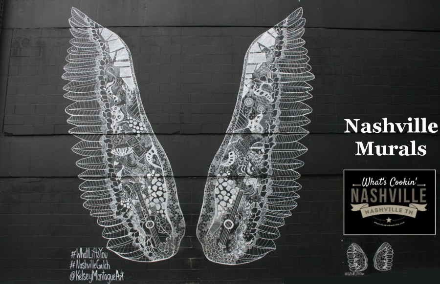 The Wings Mural The Gulch Nashville TN