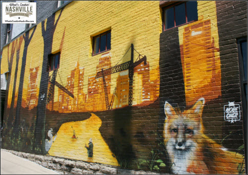 The Fox 12th South Mural What's Cookin' Nashville - Location