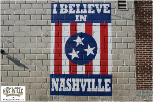 I believe in Nashville Mural 12th South District What's Cookin' Nashville
